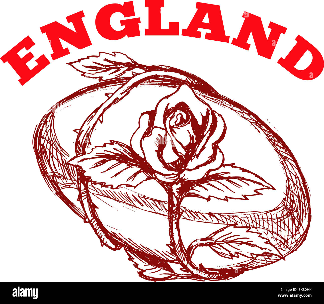 England rugby ball with english rose flower stock photo royalty england rugby ball with english rose flower buycottarizona