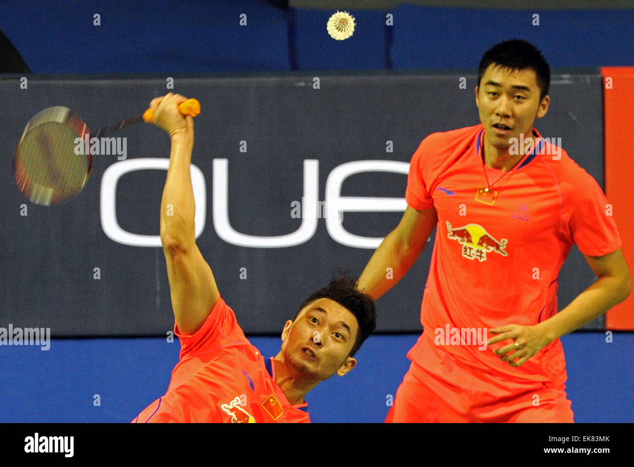 Singapore 8th Apr 2015 Chai Biao L Hong Wei of China pete