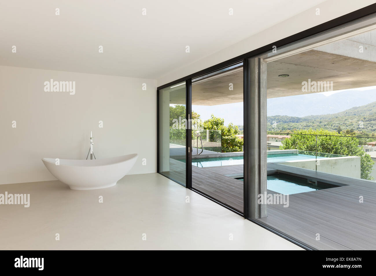 House Interior Modern Architecture Empty Room With Bath