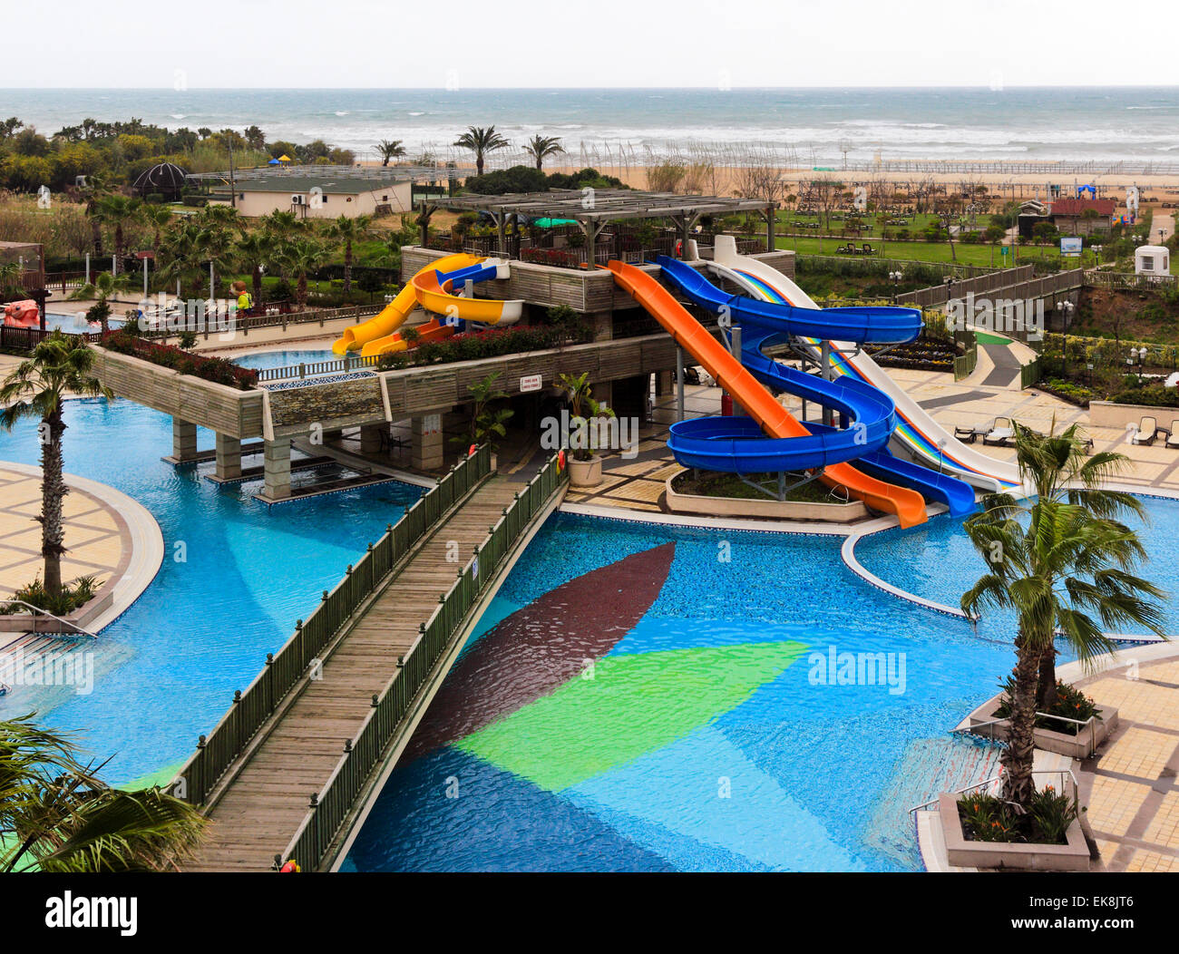 Hotel Swimming Pool With Water Slide Colakli Side