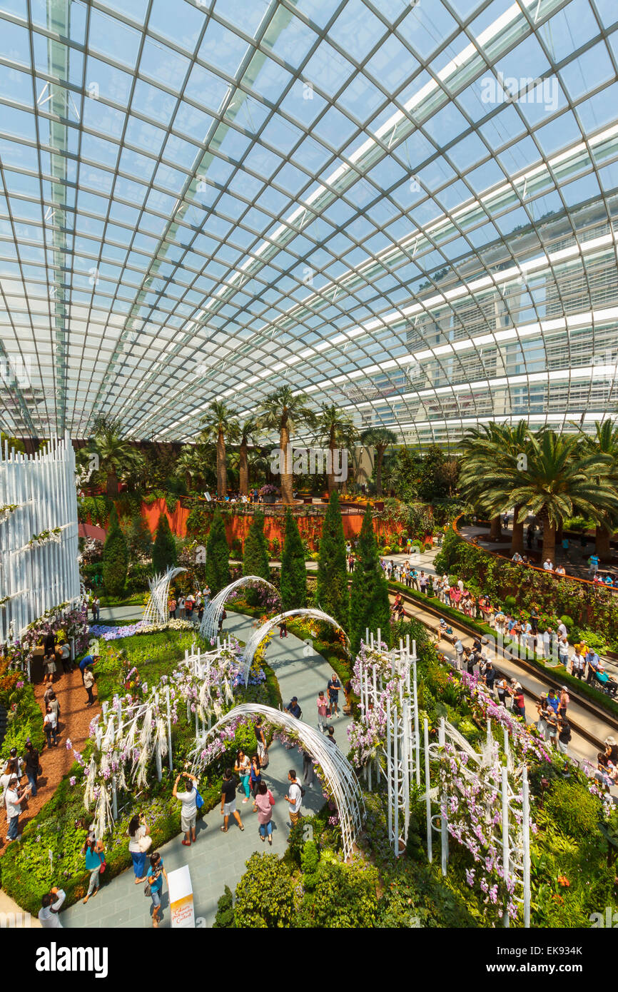 flower dome conservatory gardens by the bay singapore asia