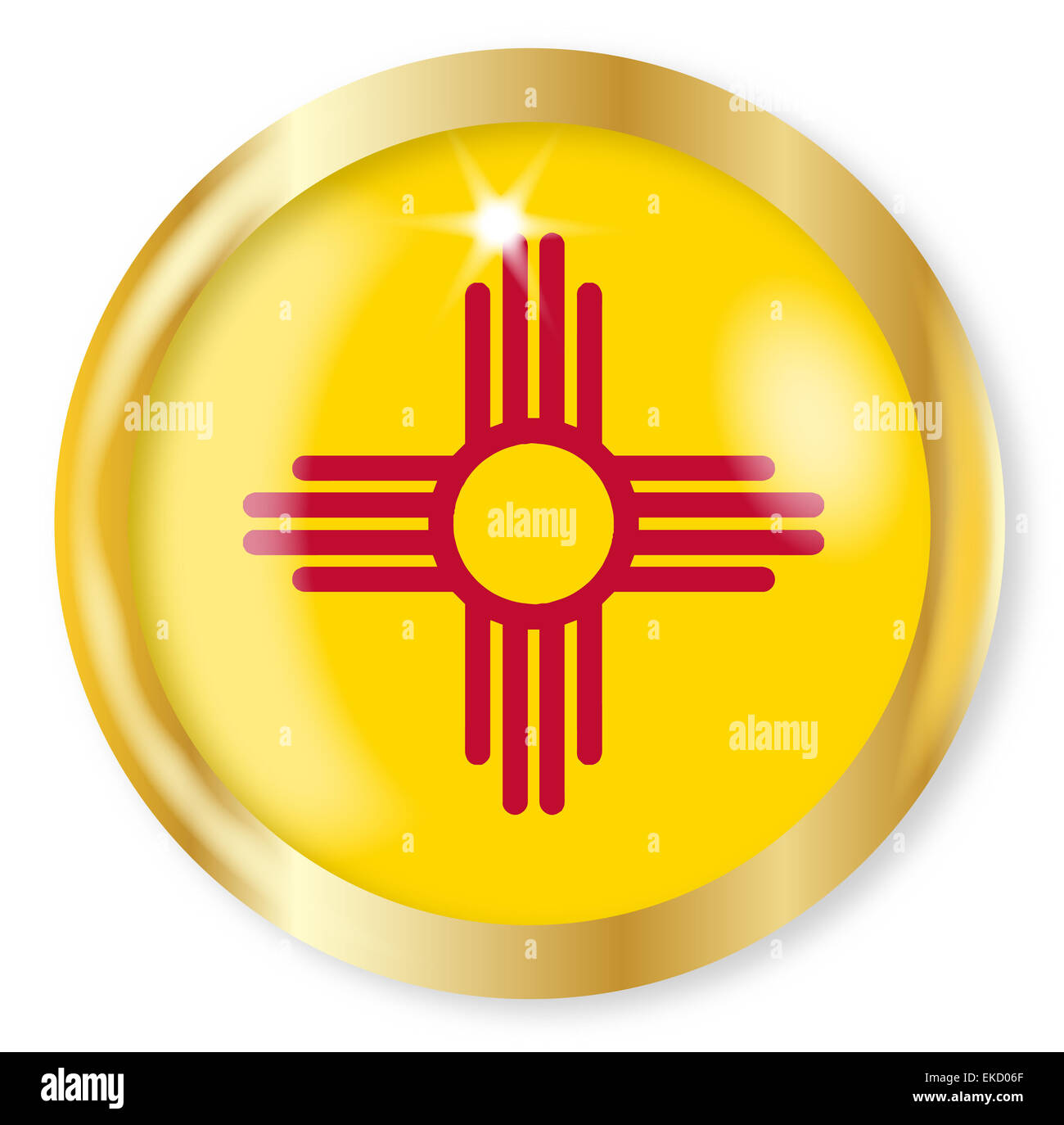 New mexico state flag button with a gold metal circular border new mexico state flag button with a gold metal circular border over a white background buycottarizona
