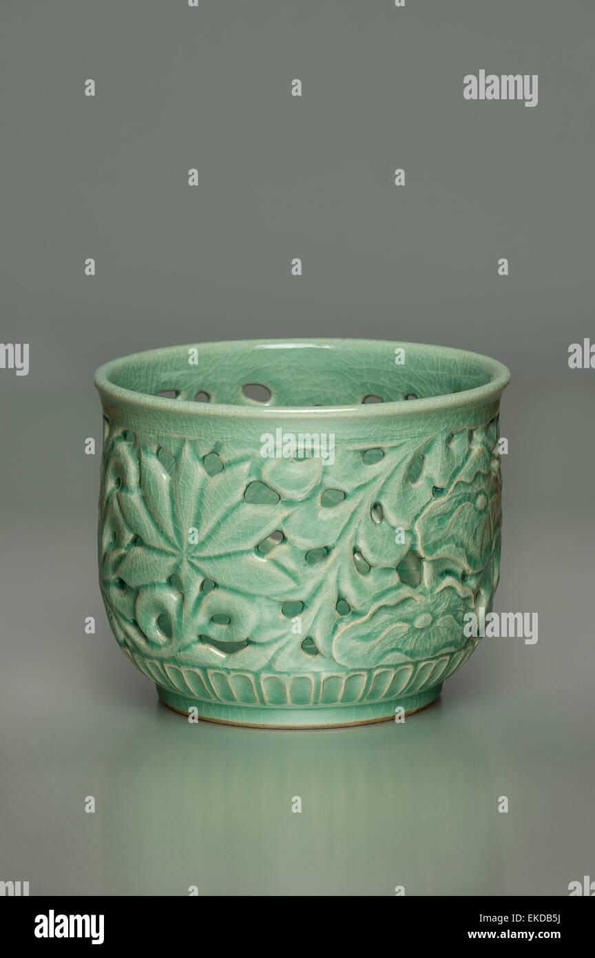 Korean Pottery Celadon Stock Photo Royalty Free Image 80814094 Alamy