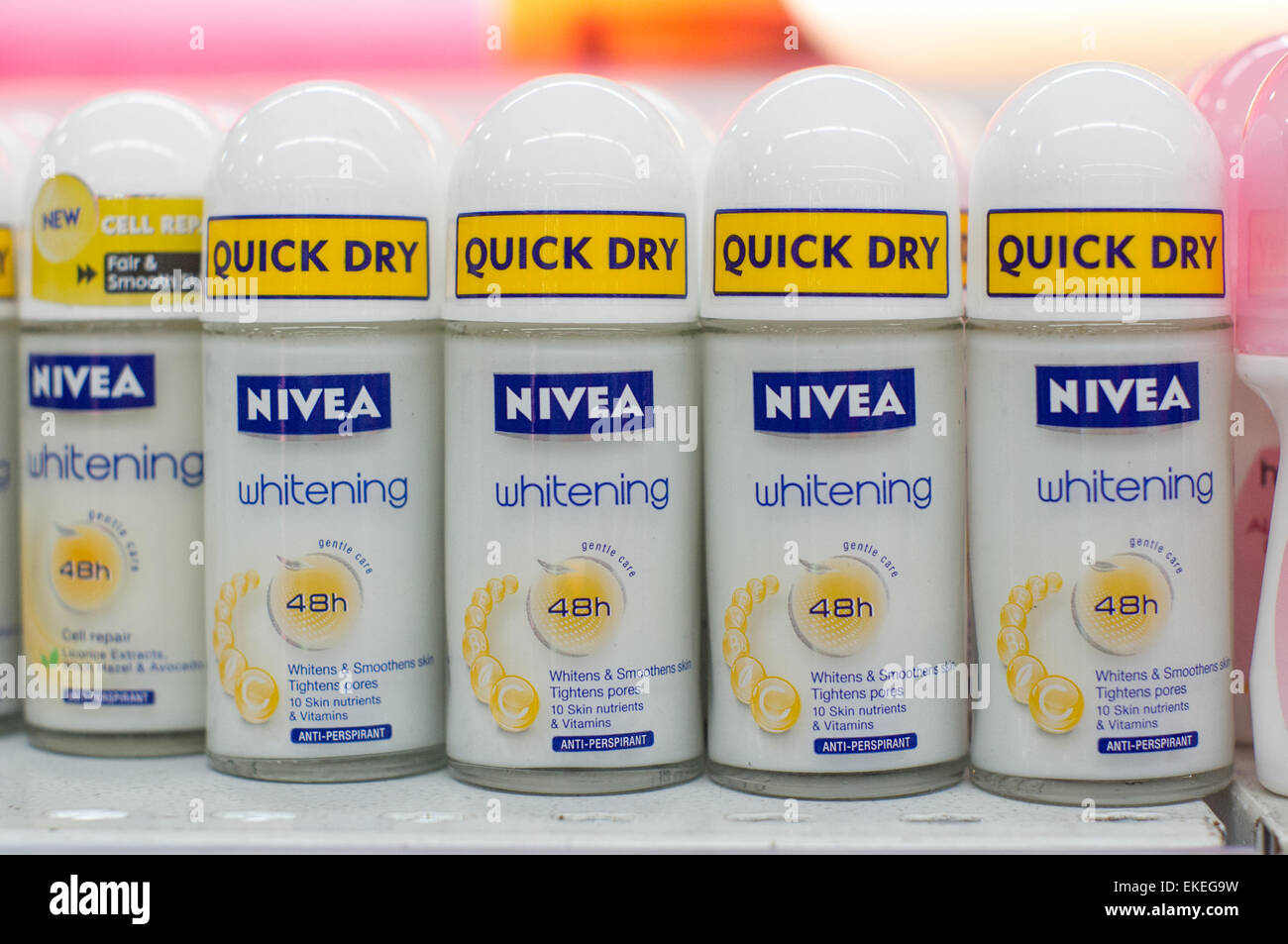 Stock Photo - Nivea whitening product on shelf of grocery market