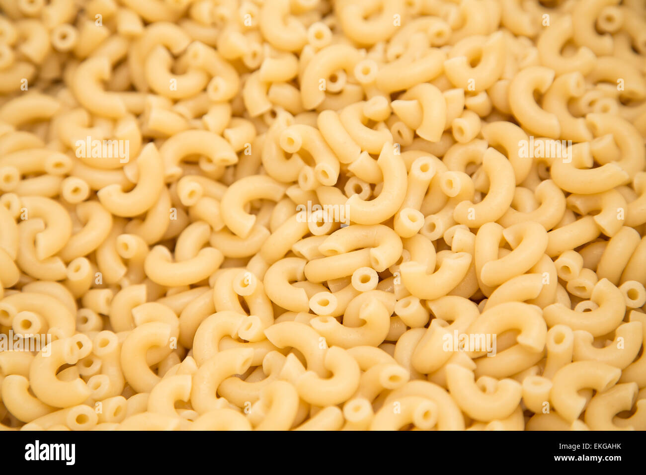 Cooked Elbow Macaroni For A Food Background
