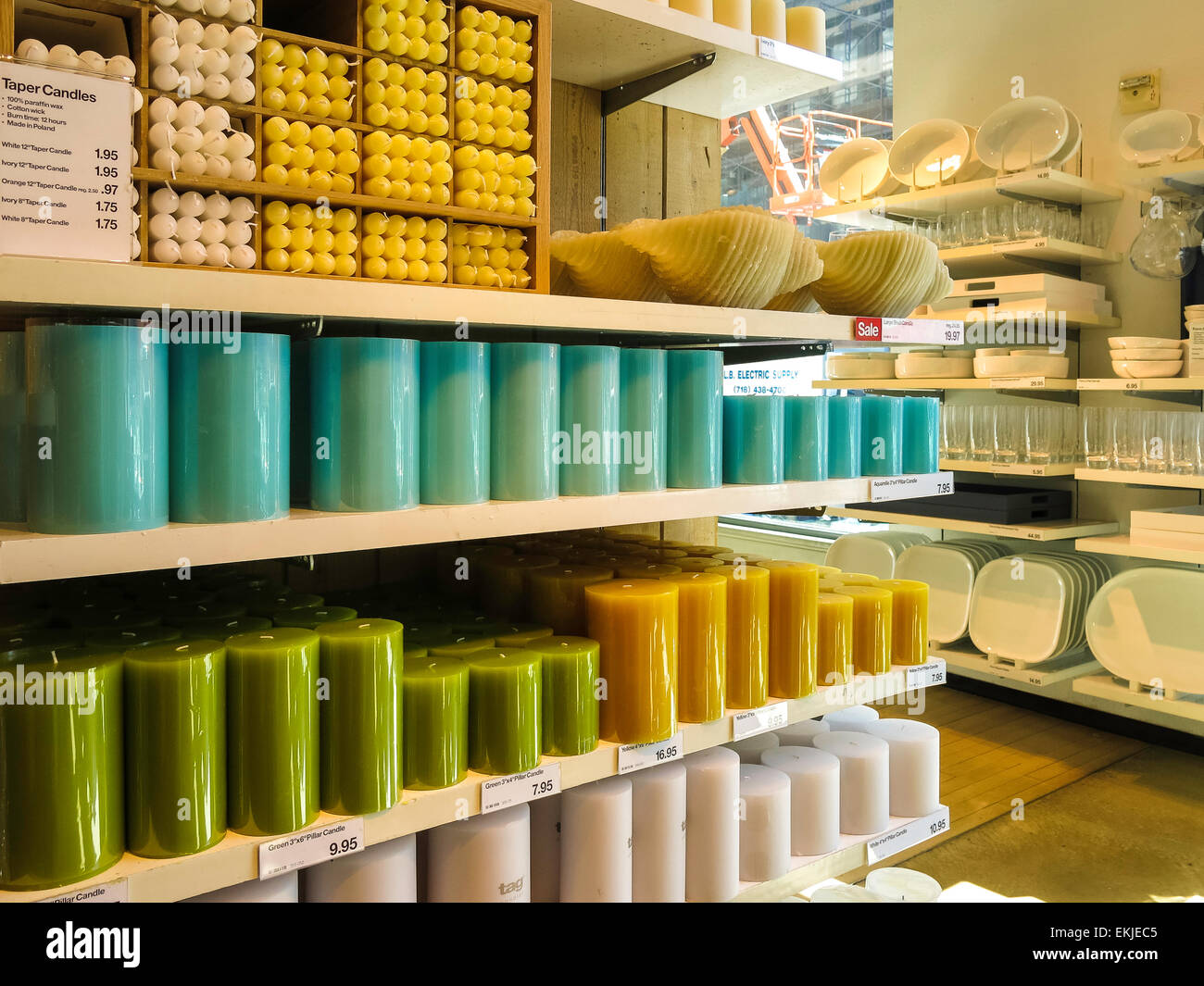 crate and barrel store. candle display crate and barrel housewares store nyc