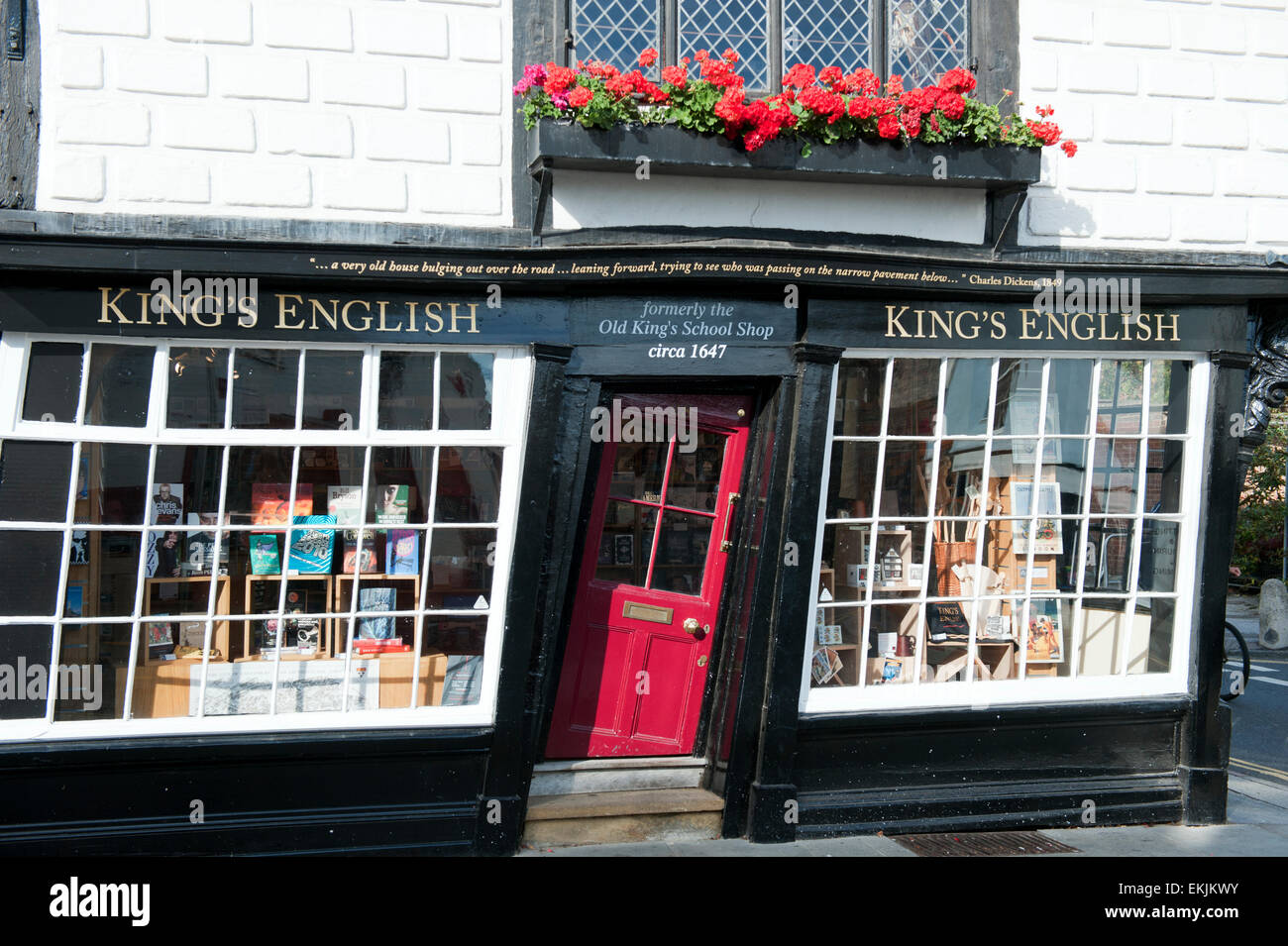 Stock Photo - The crooked door of the Old King\u0027s school shop in Canterbury Kent England europe : door kings - Pezcame.Com