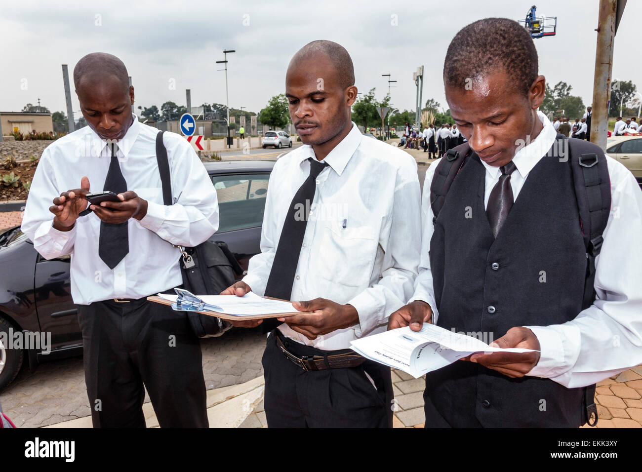 Game for coworkers - Johannesburg South Africa African Nasrec Fnb Soccer City Stadium The Calabash Black Man Coworkers Uniform Before Game Football Servers Waiters Manager
