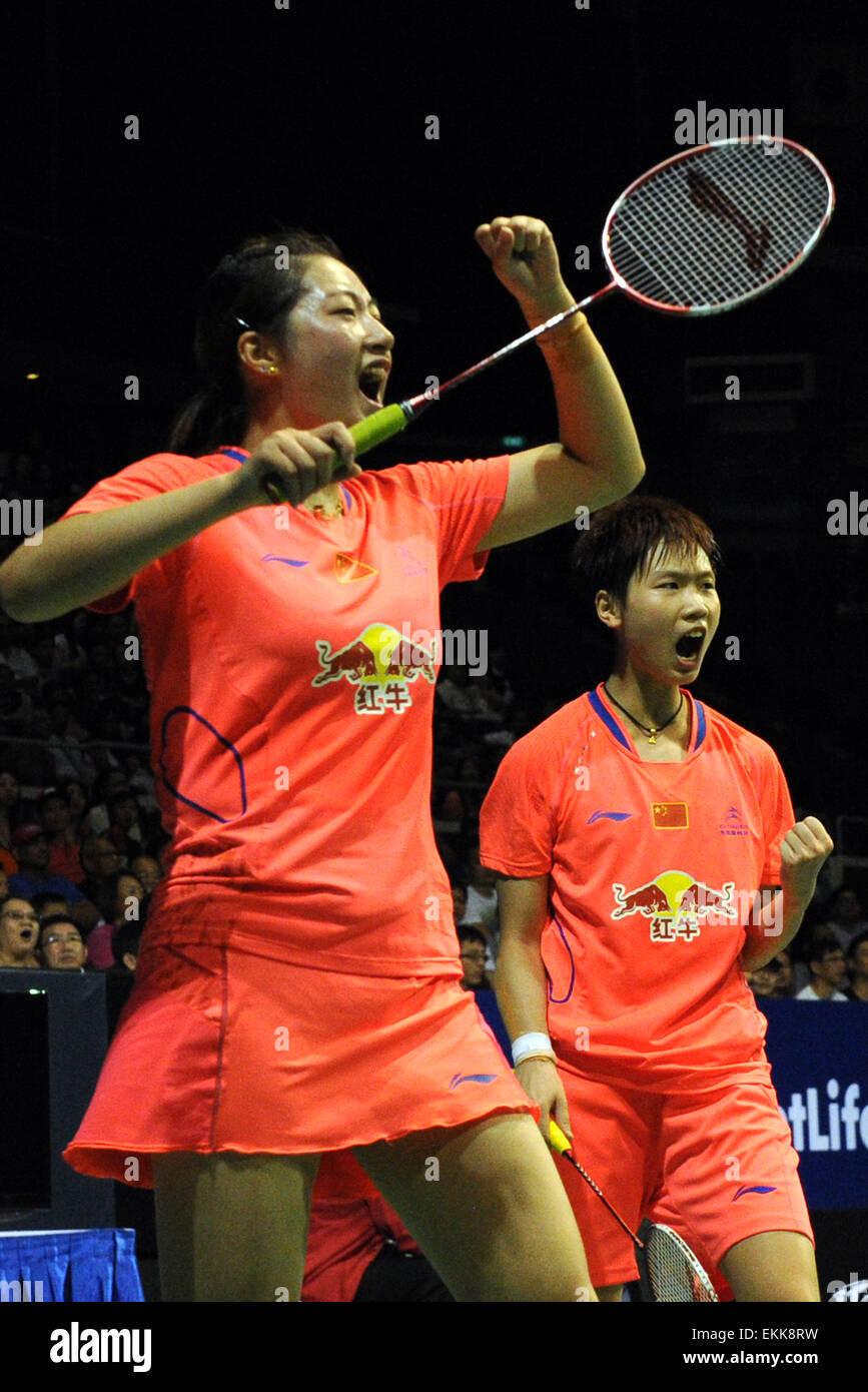Singapore 11th Apr 2015 Ou Dongni R and Yu Xiaohan of China