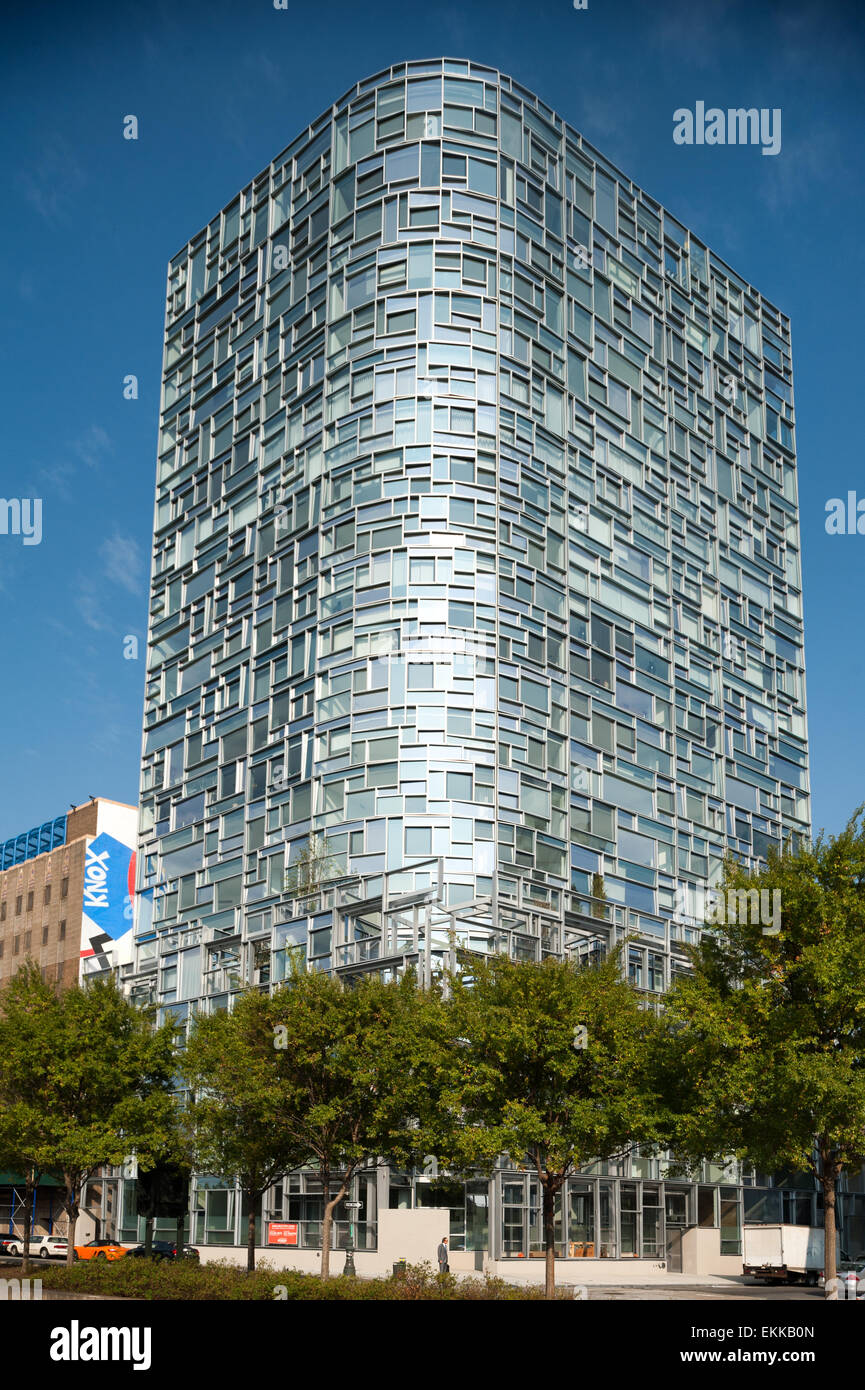 Usa new york city 100 eleventh avenue residential tower designed by jean nouvel