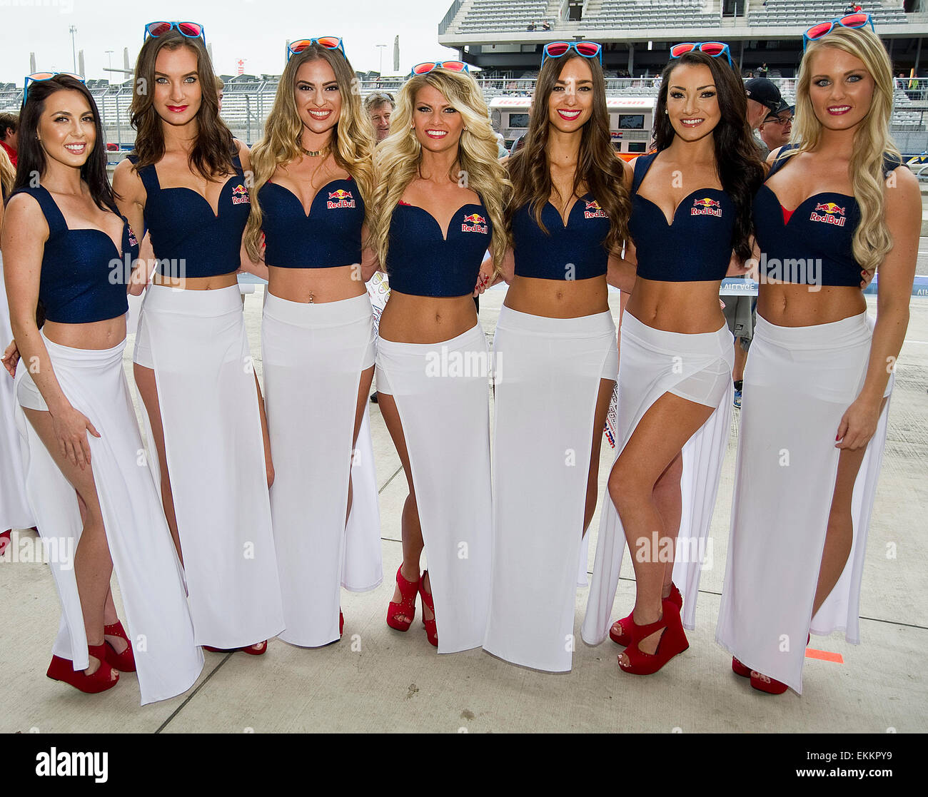 Austin, Texas, USA. 11th April, 2015. Red Bull Grid Girls in action Stock Photo: 80955037 - Alamy
