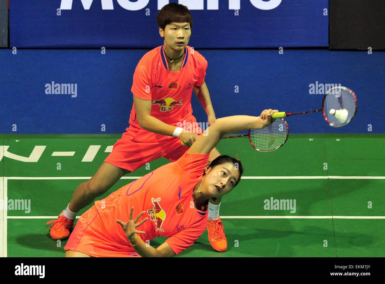 Singapore 12th Apr 2015 Ou Dongni Rear and Yu Xiaohan of