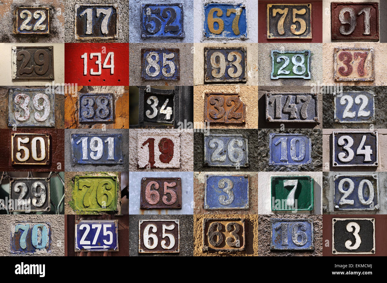 Collection of house numbers old house number vintage for Classic house numbers