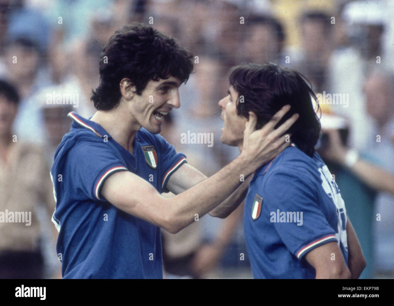 1982 World Cup Final in Madrid Spain Italy 3 v West Germany 1