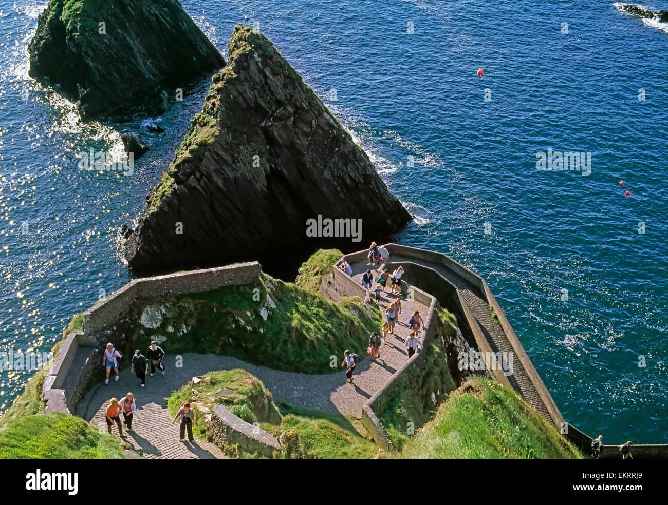 Dunquin Pier Dingle Peninsula Co Kerry Ireland Stock