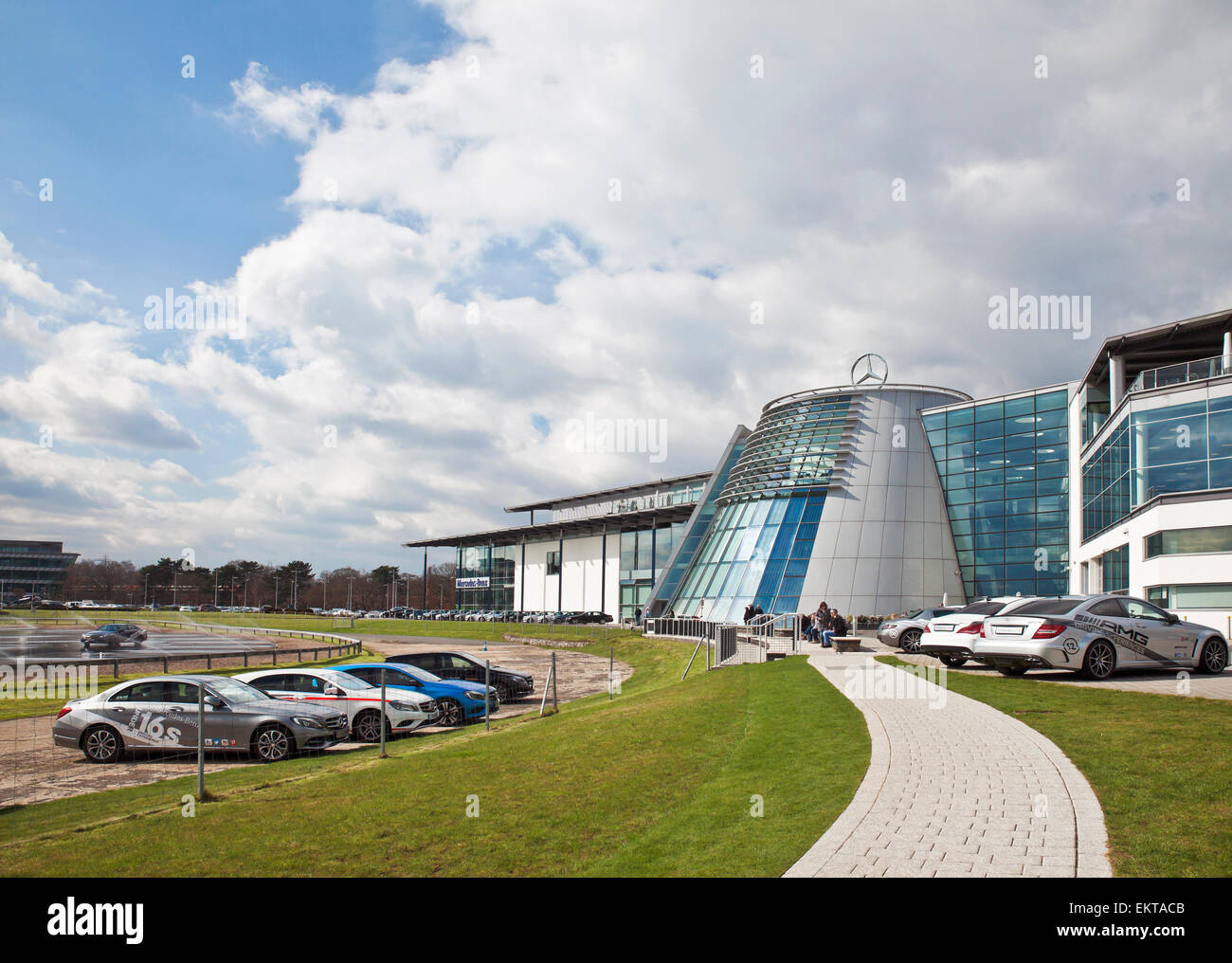 Mercedes benz world brooklands stock photo royalty free for Mercedes benz worldwide