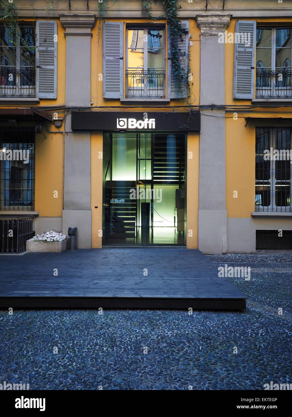 Boffi Furniture Store, Via Solferino Street, Brera District, Milan,  Lombardy, Italy, Europe
