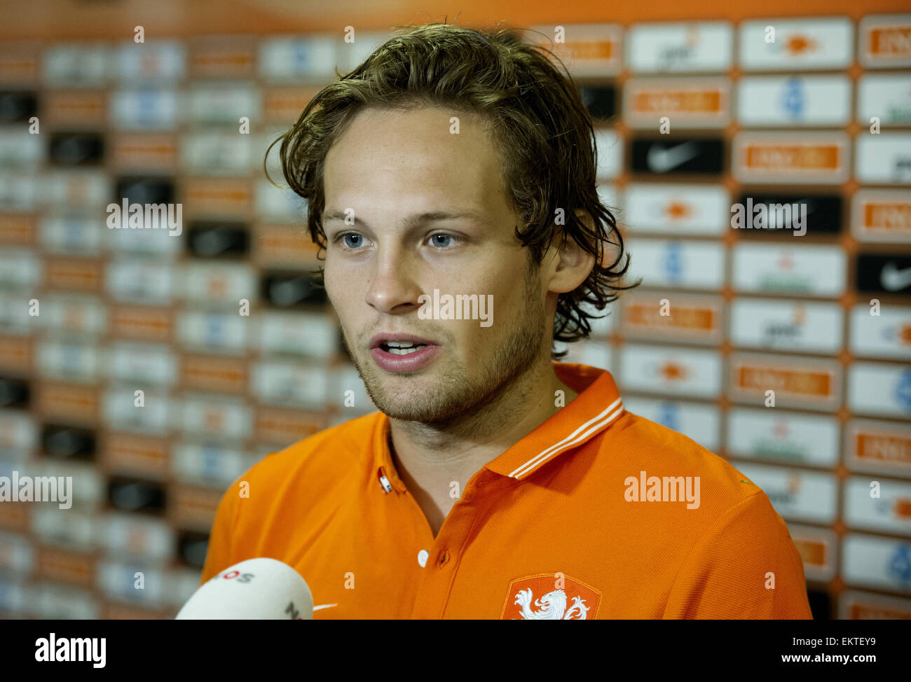 Dutch soccer player Daley Blind prepares with the Dutch National