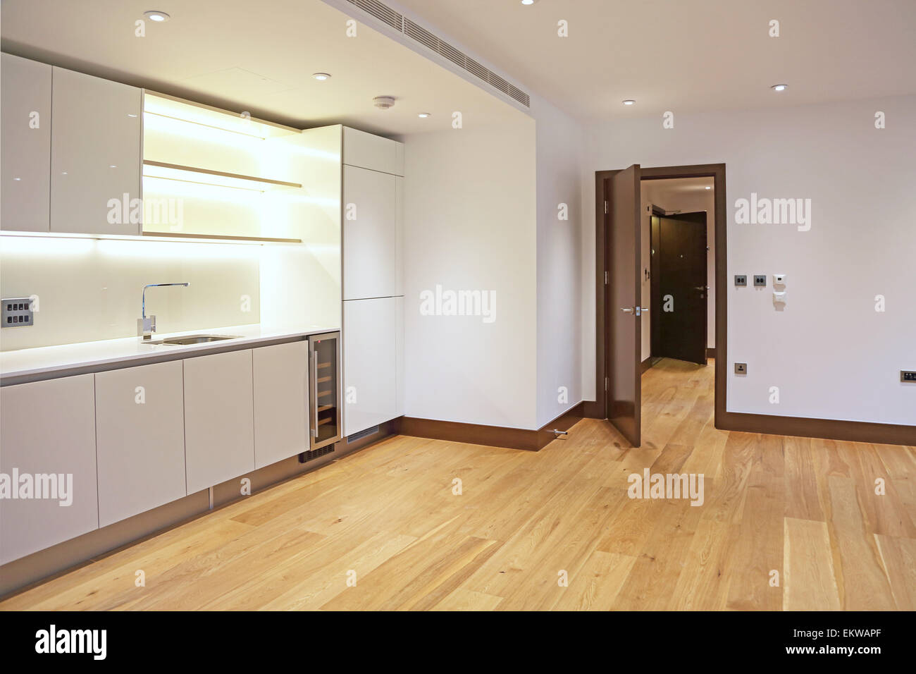 Combined Kitchen And Living Room In A New, Unfurnished Luxury Flat In The  City Of Part 77