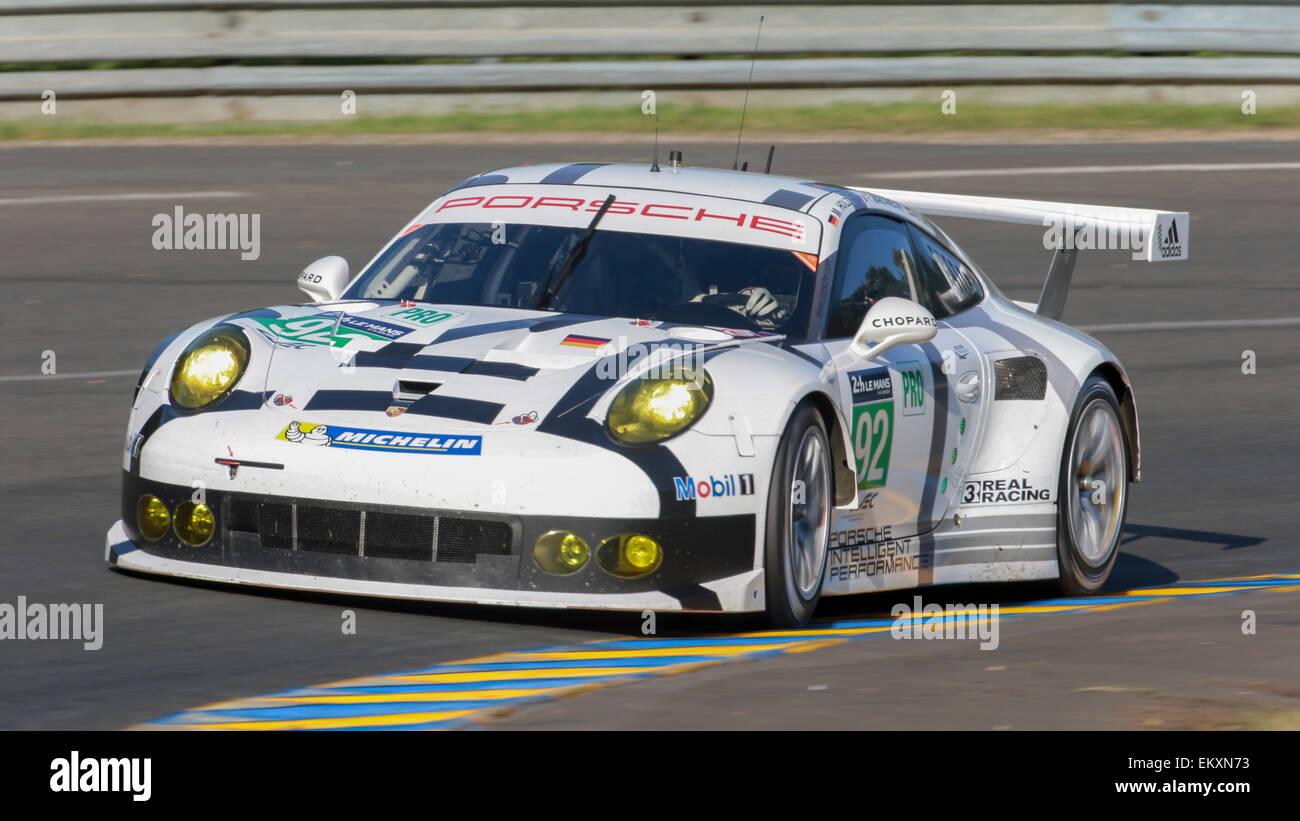 Le Mans France June 12 2014 Porsche 911 Rsr 92 Lm Gte Pro Stock Photo 81107351 Alamy