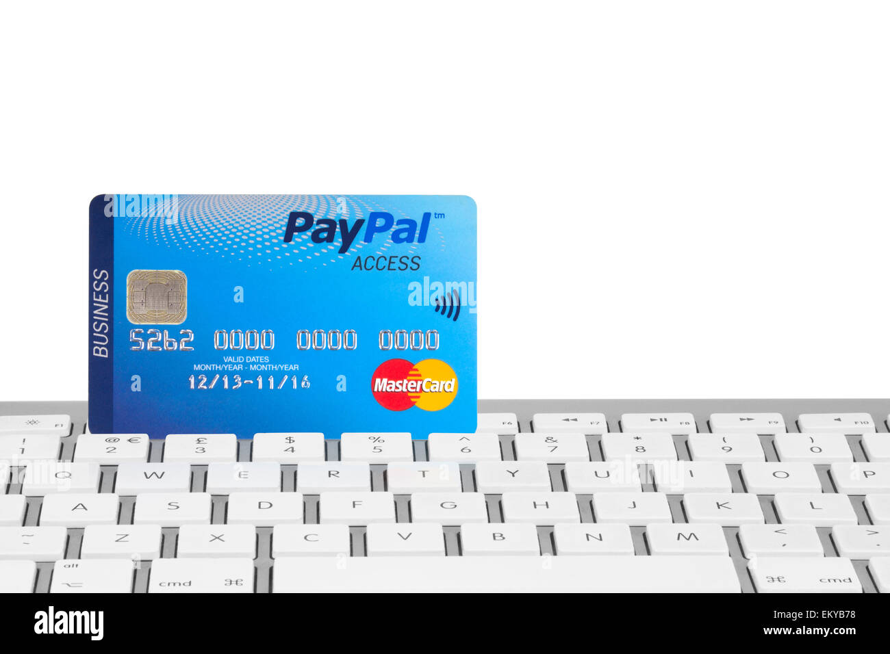 Paypal business mastercard on a computer keyboard with a white paypal business mastercard on a computer keyboard with a white background magicingreecefo Images