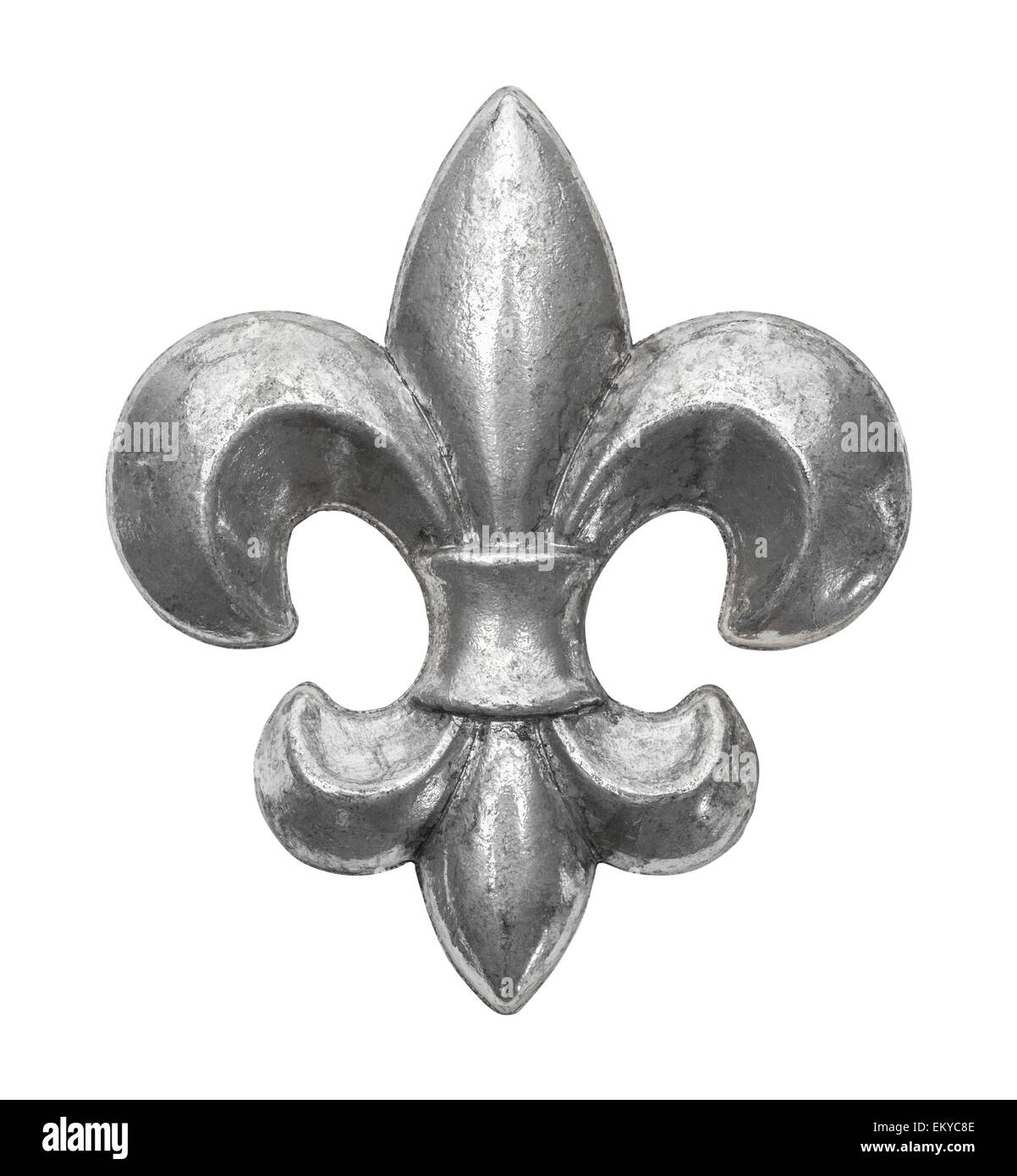 Decorative metal french royal symbol isolated on white background decorative metal french royal symbol isolated on white background biocorpaavc Gallery