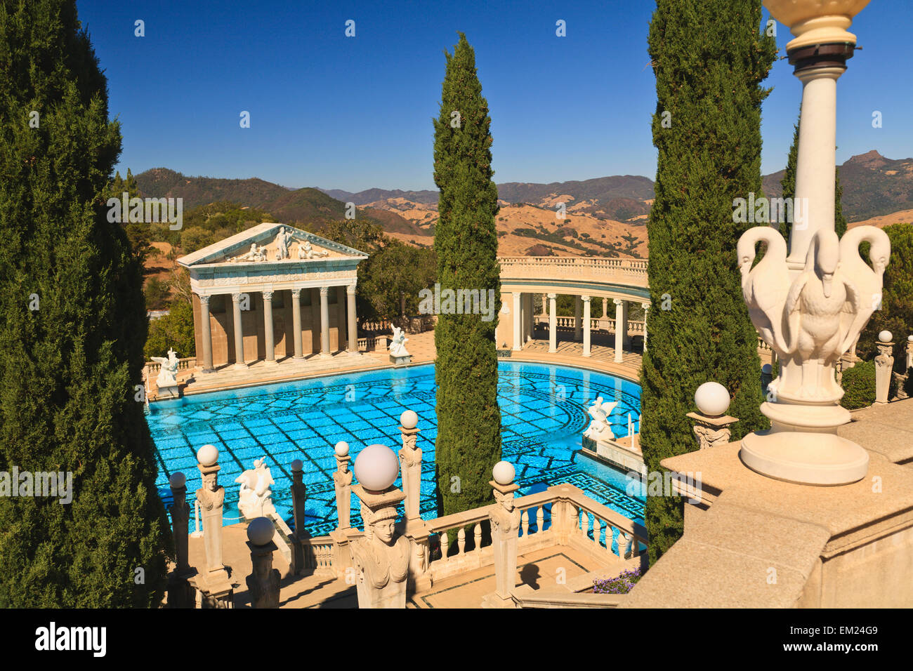 a swimming pool at hearst castle a mediterranean style mansion atop a stock photo royalty free. Black Bedroom Furniture Sets. Home Design Ideas