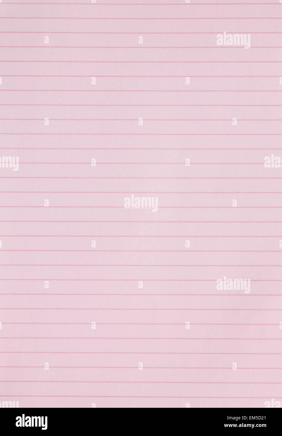 Blank Pink Lined Paper Sheet Background Or Textured  Lined Blank Paper