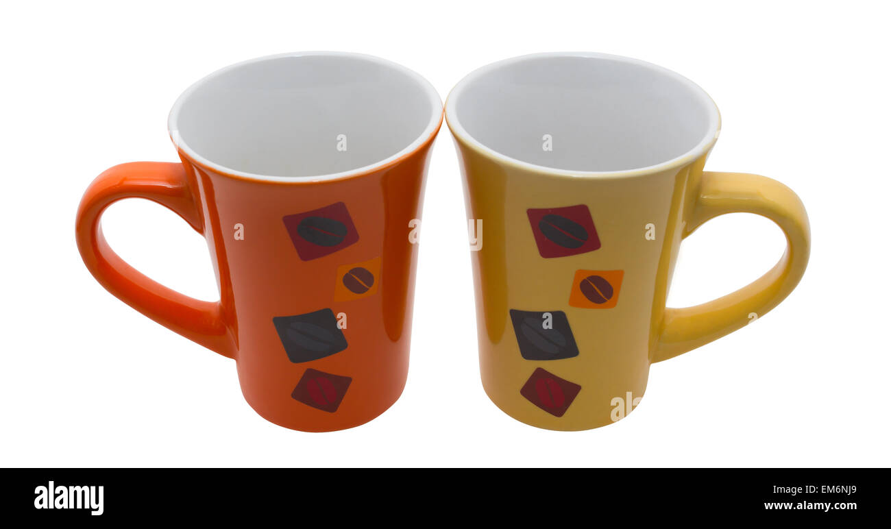 beautiful mugs of which good morning cup of tea or coffee stock