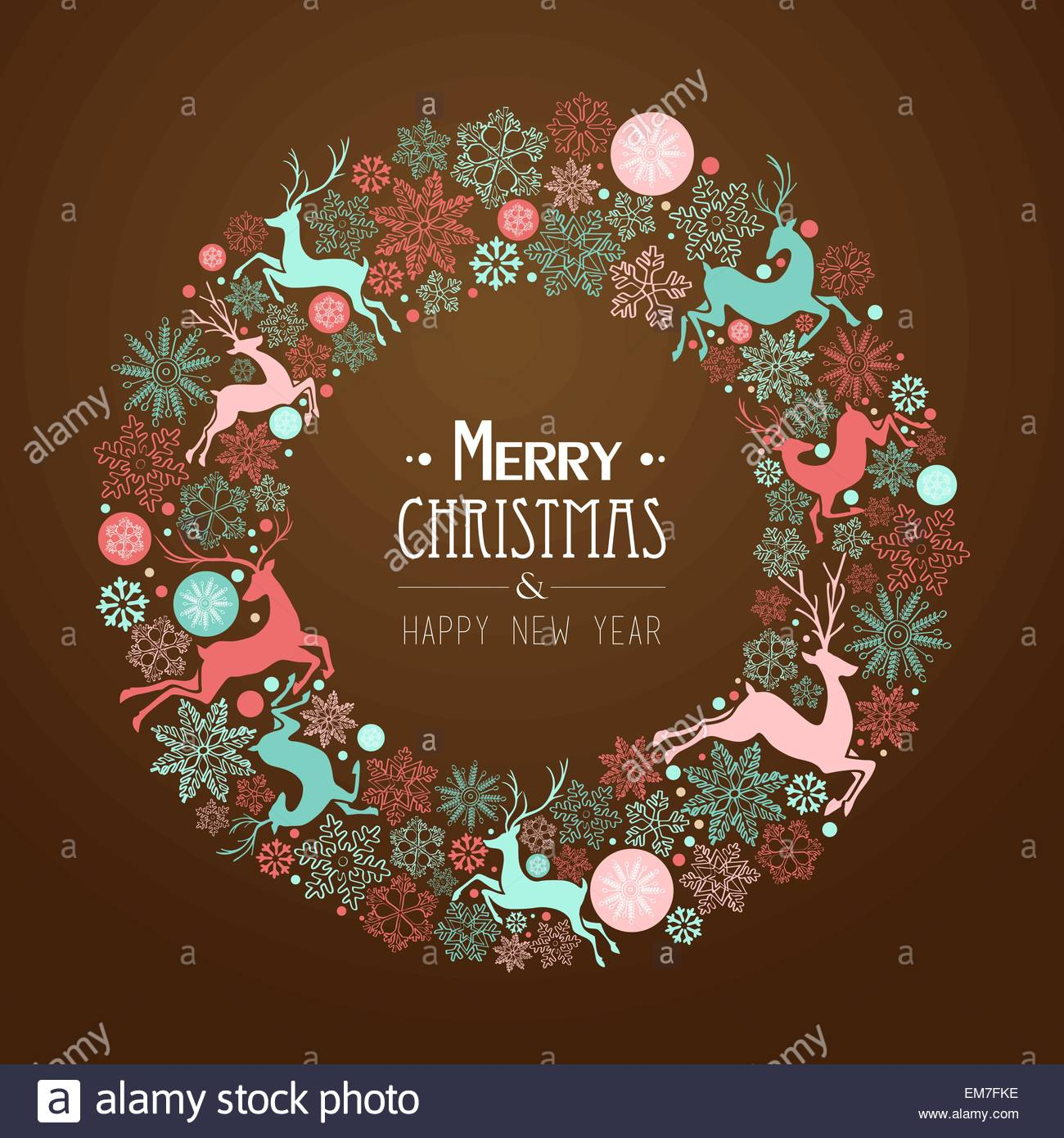 Merry christmas and happy new year greeting card stock vector art merry christmas and happy new year greeting card kristyandbryce Image collections