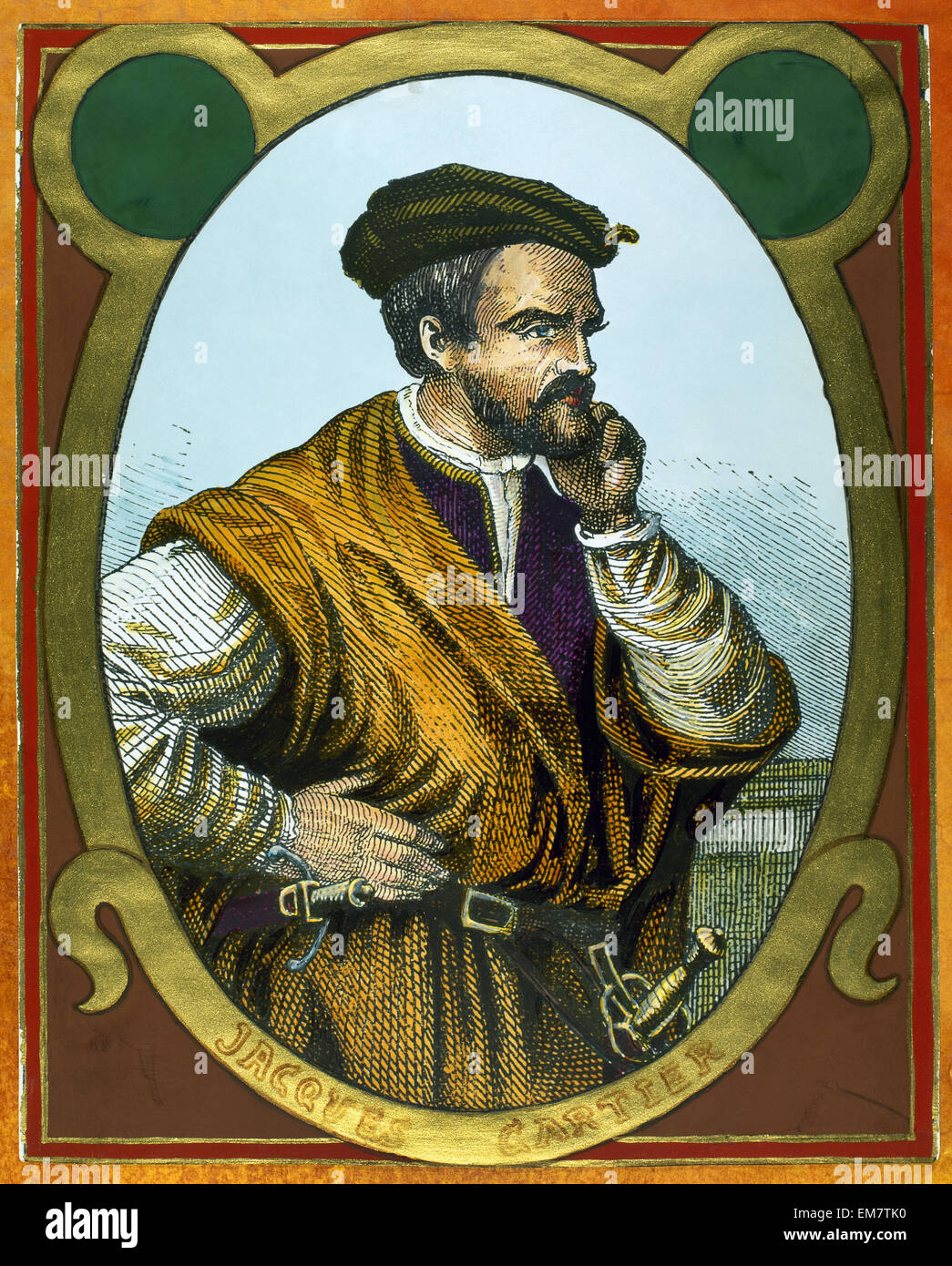 Jacques Cartier, French Explorer Stock Photo, Royalty Free Image ...