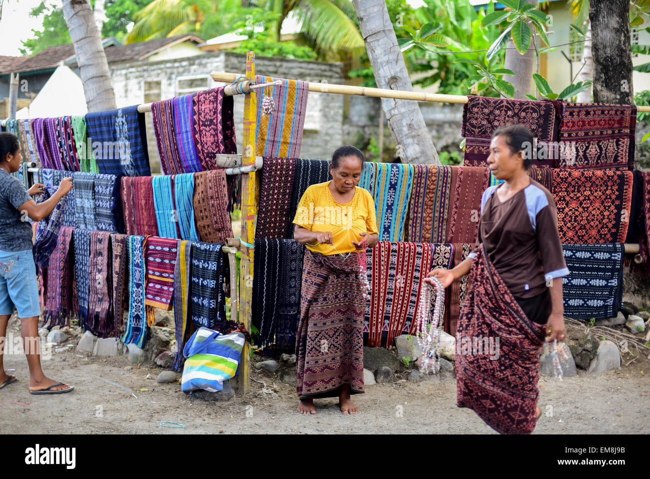 Women sell their hand-made weavings at Sikka village, eastern ... Alamy1300 × 957Search by image Women sell their hand-made weavings at Sikka village, eastern Flores, Indonesia