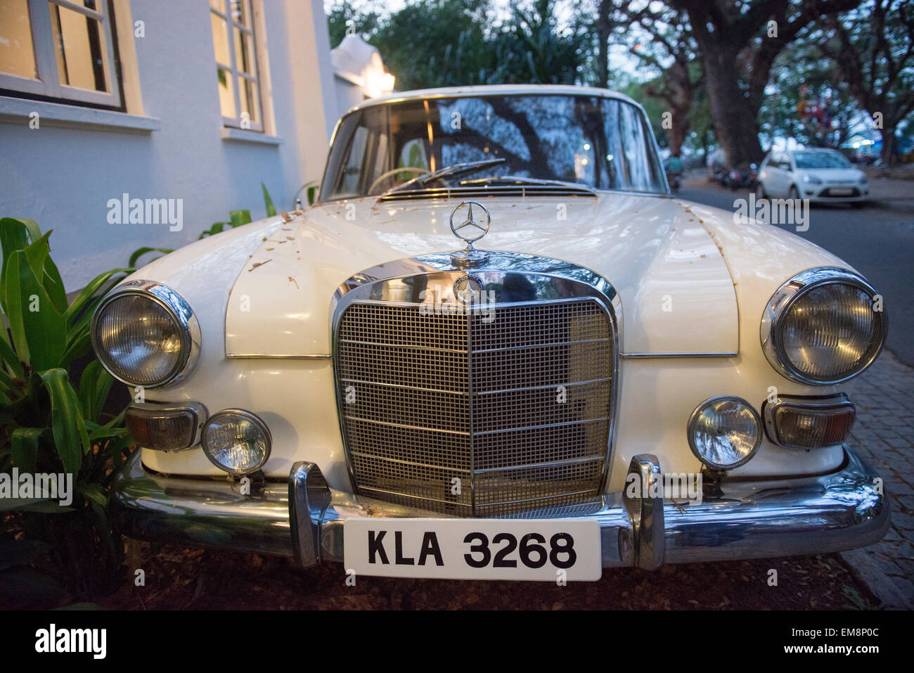 Car interior kochi - A Car Outside The Old Harbour Hotel In Fort Kochi Kerala India Stock Image