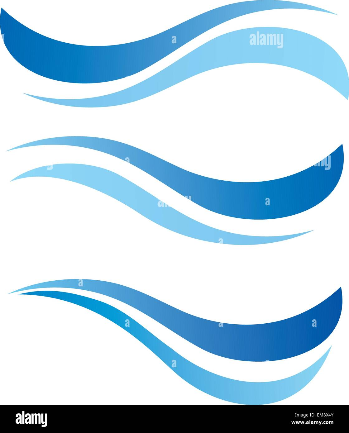 water waves design elements vector set Stock Vector Art ...