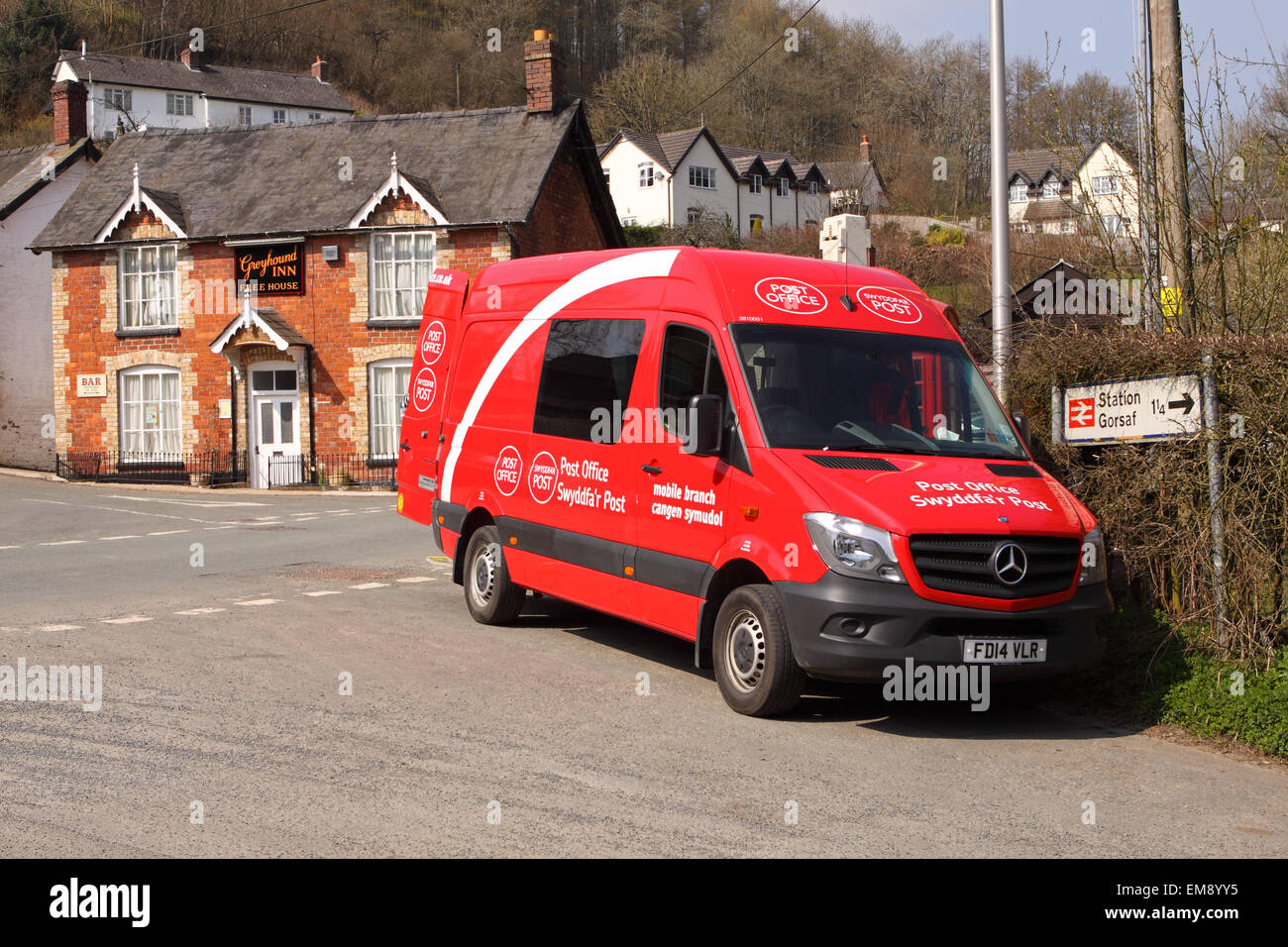 post business office. Royal Mail Swyddfa\u0027r Post Mobile Office Van Open For Business Visiting The Small Village Of Llangunllo In Powys Wales UK T