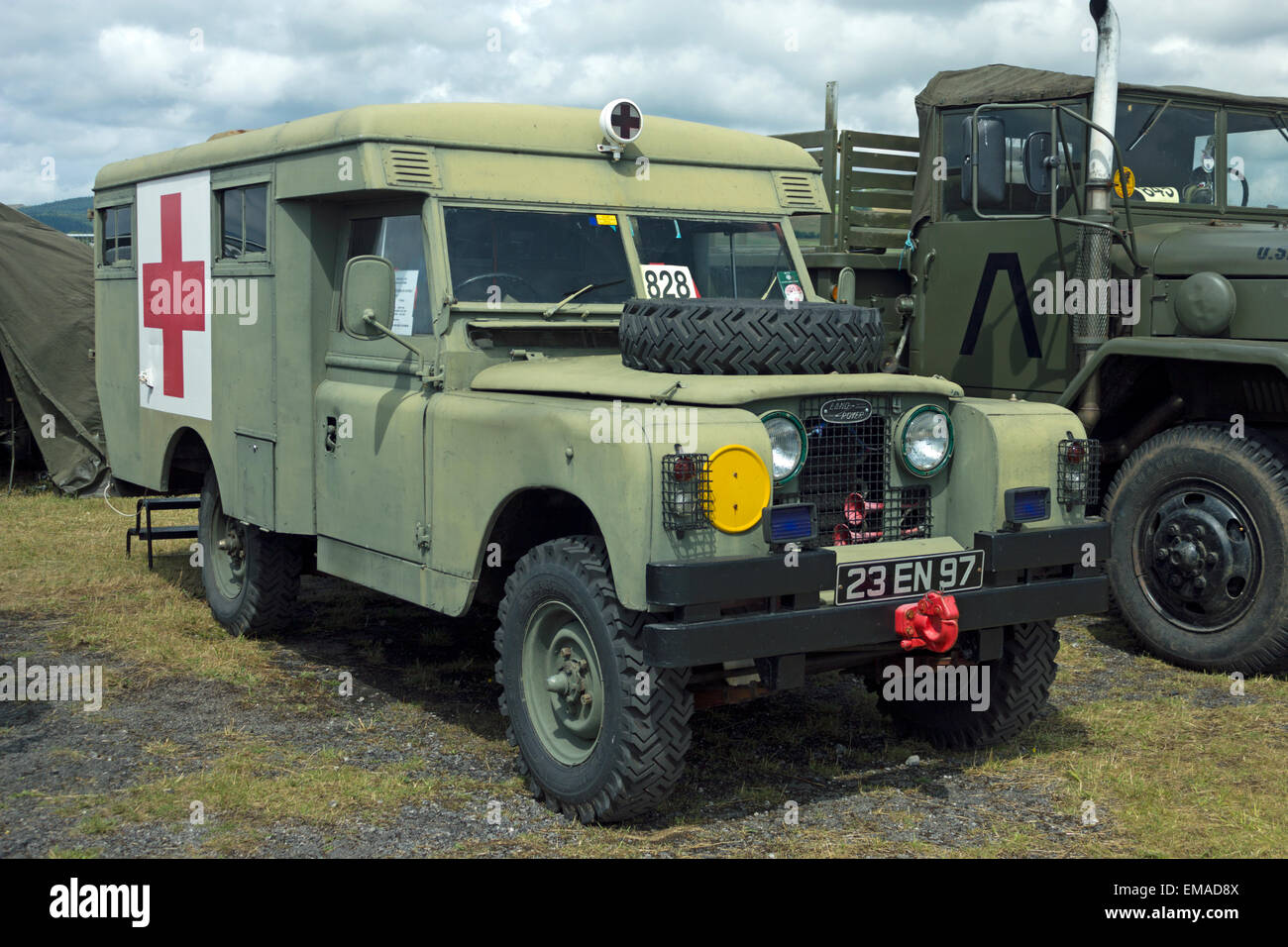 land rover military ambulance stock photo royalty free. Black Bedroom Furniture Sets. Home Design Ideas
