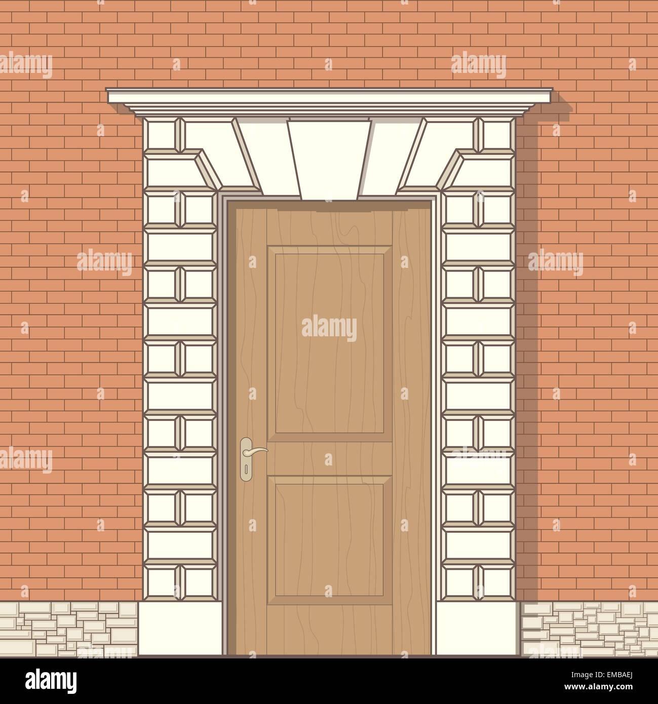 Front Door Drawing vector drawing of front door stock vector art & illustration