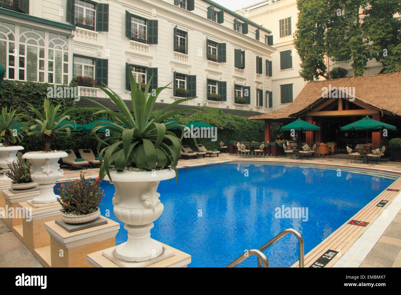 Vietnam Hanoi French Quarter Sofitel Metropole Hotel Swimming Stock Photo 81392479 Alamy