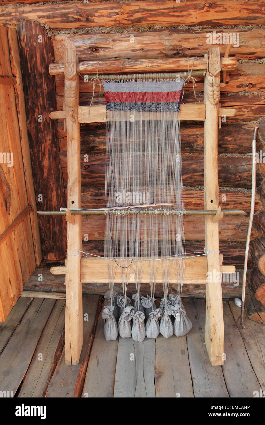 Old Medieval Weaver Loom A Replica Of A Primitive