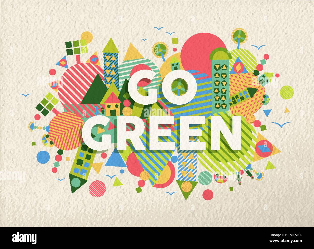 Poster design background - Go Green Quote Poster Design Background