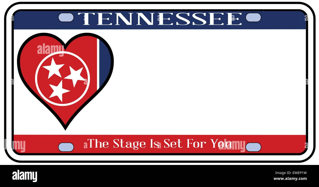 Tennessee State License Plate Stock Vector Art & Illustration ...