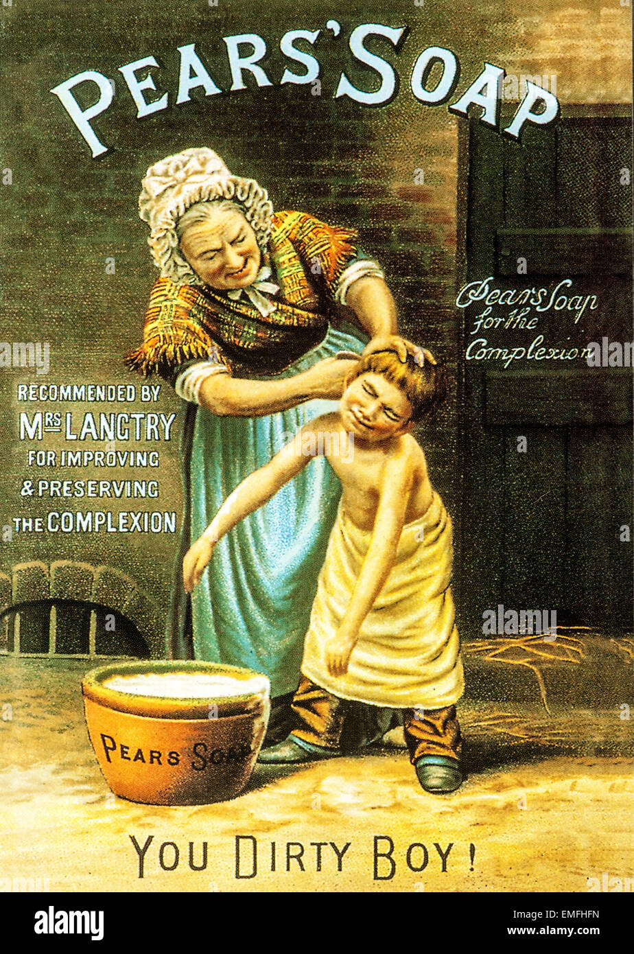 A Victorian Advertisement For Pear S Soap Stock Photo