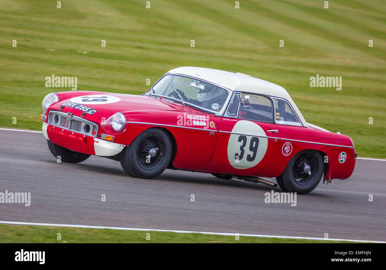 John Yea in the 1964 MGB \