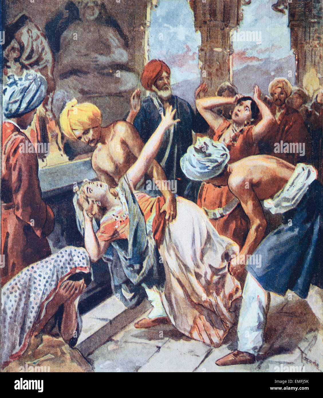 human sacrifice Its because of their gods they fully believed that they owed the blood-debt, so they paid the ultimate price, which was human blood they believed that this would prevent disaster by continually performing this ritual.
