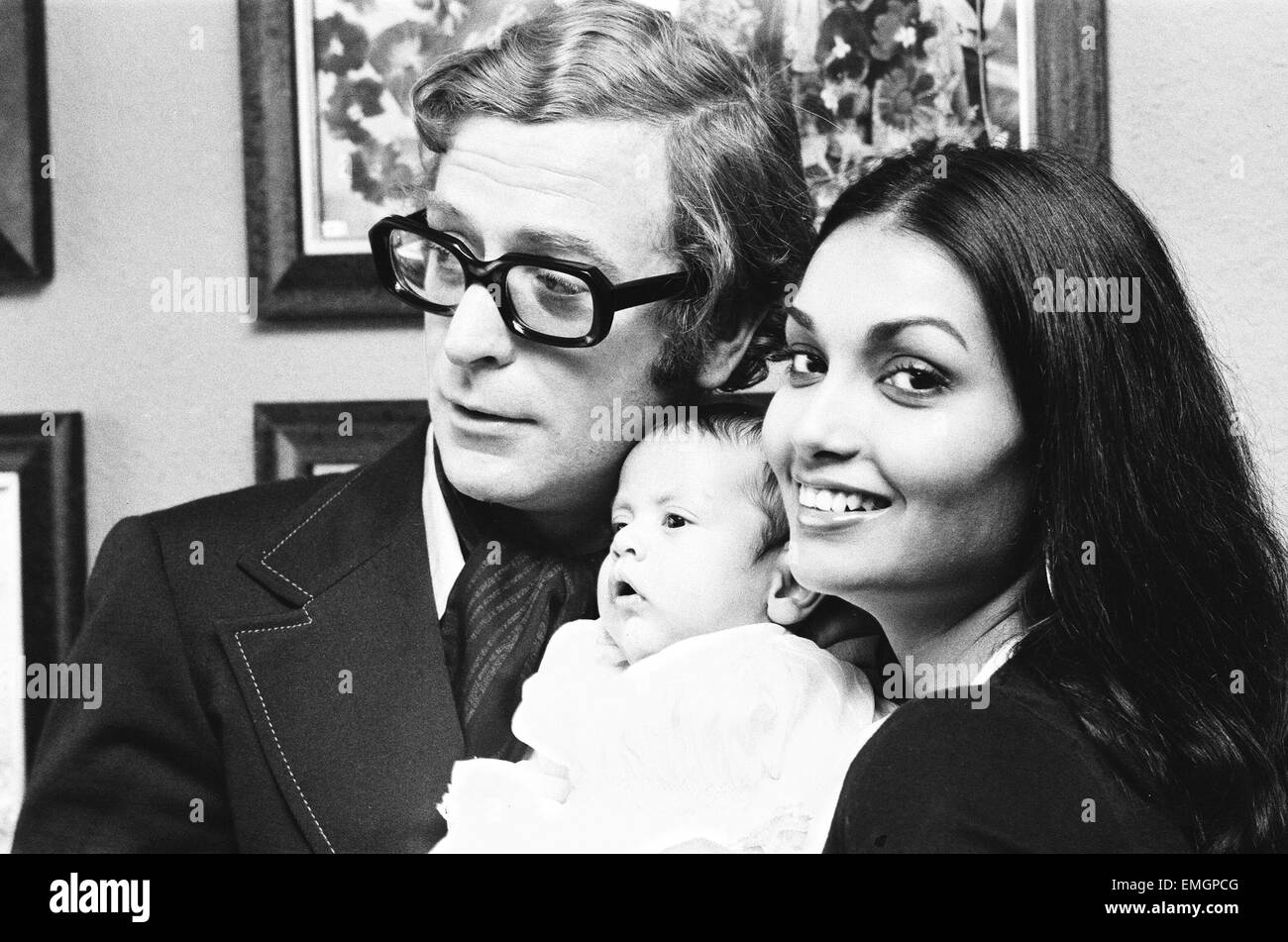 actor michael caine and his wife shakira hold a photocall