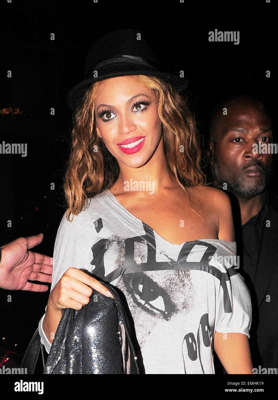 16 london pop diva beyonce leaving mahiki club stock photo royalty free image - Beyonce diva download ...