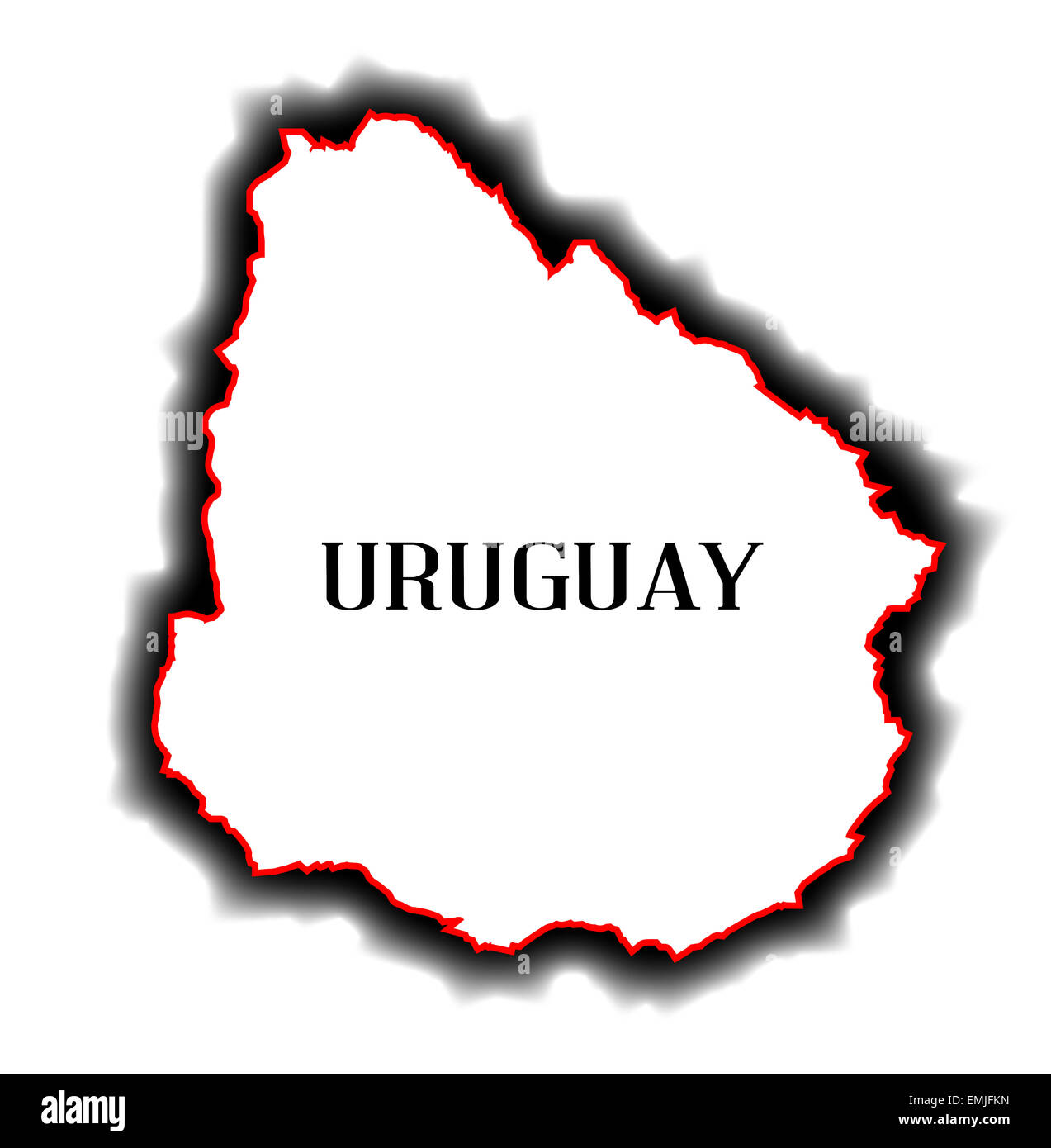 Outline Blank Map Of The South American Country Of Uruguay Stock - Uruguay blank map