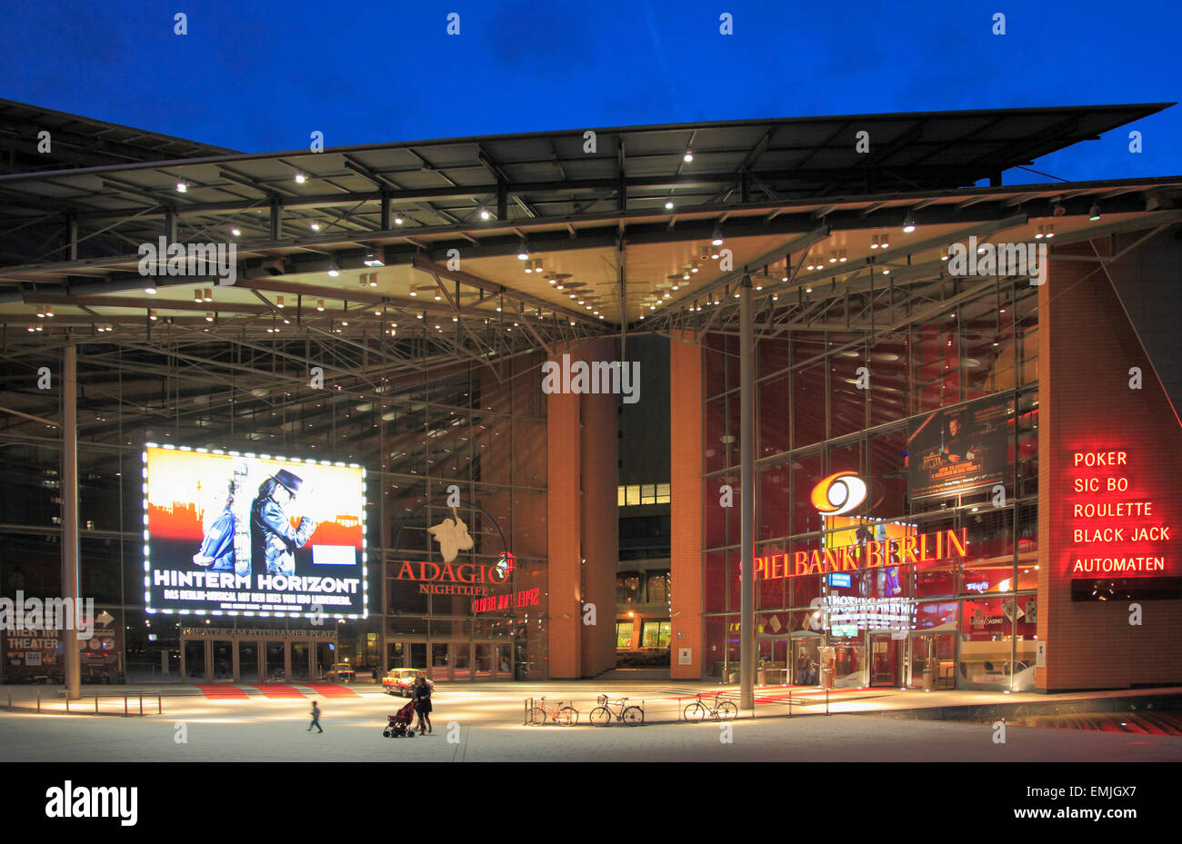 germany berlin potsdamer platz marlene dietrich platz casino stock photo royalty free image. Black Bedroom Furniture Sets. Home Design Ideas