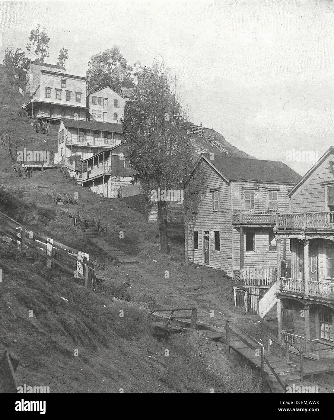 White apron inc brea ca - Telegraph Hill San Francisco California Taken Before The Earthquake Of 1906 Stock