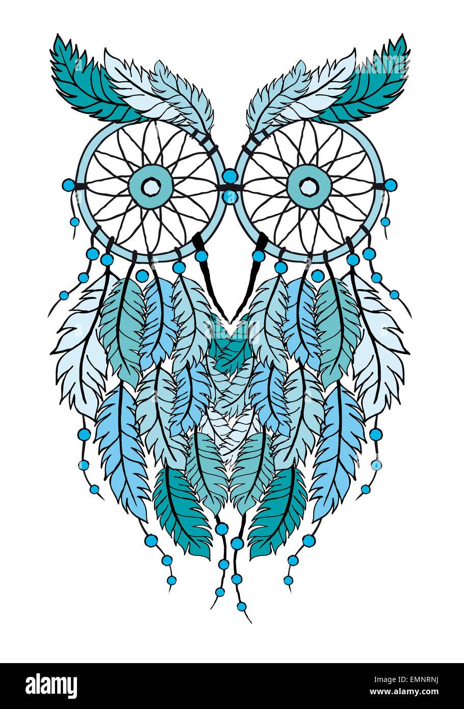 Owl dreamcatcher drawing - photo#12